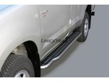 Estribos Toyota Hilux 06-16 Cabine Extra Inox C/ Plataforma