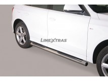 Side Steps Audi Q5 Stainless Steel Tube 76MM