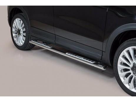 Side Steps Fiat 500X Steel DSP