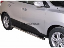 Side Steps Hyundai IX35 2011+ Stainless Steel DSP