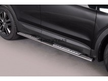 Side Steps Hyundai Santa Fe 2012+ Stainless Steel DSP