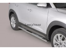 Side Steps Hyundai Tucson 2015+ Stainless Steel DSP