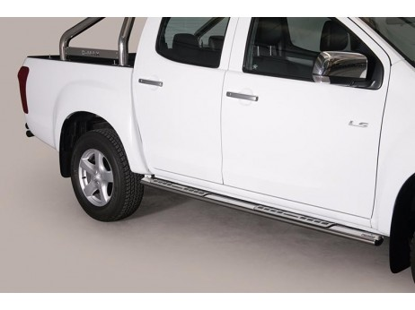 Side Steps Isuzu D-Max 2012+ DC Stainless Steel DSP
