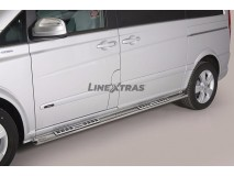 Side Steps Mercedes-Benz Viano 2010+ SWB Stainless Steel DSP