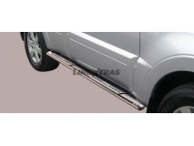 Side Steps Mitsubishi Pajero 2007+ 5D Stainless Steel DSP