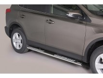 SIDE STEPS STAINLESS STEEL W/ALUM.PLATE RAV4 2013