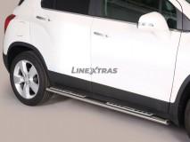 Estribos Chevrolet Trax 2013+ Inox DSP