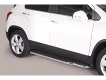 Side Steps Chevrolet Trax 2013+ Stainless Steel W/ Platform