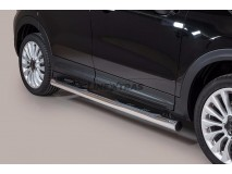 Side Steps Fiat 500X Stainless Steel Tube 76MM