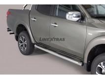 ESTRIBOS TUBO INOX 76mm FIAT FULLBACK D/CAB