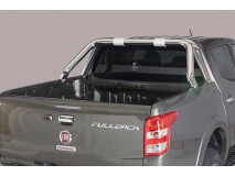 Double Roll-Bar Fiat Fullback DC Stainless Steel W/O Brand Logo