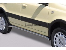 Side Protections Fiat Panda 4x4 05-13 Stainless Steel Tube 50MM