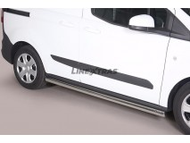 Side Protections Ford Transit Courier 2014+ Stainless Steel Tube 63MM