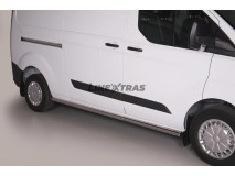 Side Protections Ford Transit Custom L2 2013+ Stainless Steel Tube 63MM