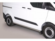 Side Protections Ford Transit Custom L1 2013+ Stainless Steel Tube 63MM