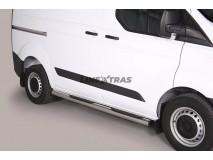 Side Steps Ford Transit Custom L1 2013+ Stainless Steel Tube 76MM