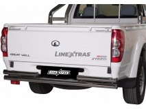 Double Rear Protection Great Wall Steed/Wingle 10-11 Single Cab Stainless Steel 63MM