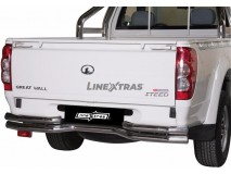 Double Bended Rear Protection Great Wall Steed/Wingle 10-11 Single Cab Stainless Steel 63MM
