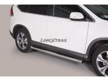 Side Steps Honda CR-V 12-15 Stainless Steel Tube 76MM