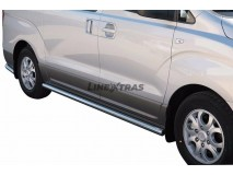 Side Protections Hyundai H1 Wagon 2008+ Stainless Steel Tube 63MM