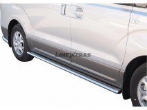 Side Steps Hyundai H1 Wagon 2008+ Stainless Steel Oval