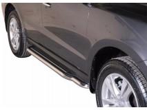 Side Steps Hyundai Santa Fe 10-12 Stainless Steel W/ Platform