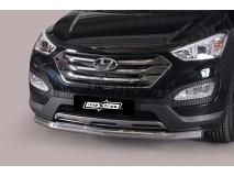 Front Protection Hyundai Santa Fe 2012+ Inox 76ММ