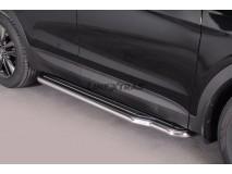 Side Steps Hyundai Santa Fe 2012+ Stainless Steel W/ Platform