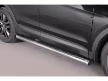 Side Steps Hyundai Santa Fe 2012+ Stainless Steel Tube 76MM