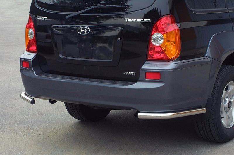 Bumper Corners Hyundai Terracan 2001+ Stainless Steel 50MM