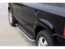 Side Steps Hyundai Tucson 04-14 Stainless Steel W/ Platform