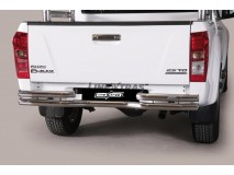 Double Bended Rear Protection Isuzu D-Max 2012+ Stainless Steel 63MM