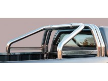 Double Roll-Bar Isuzu D-Max 2012+ Stainless Steel W/O Brand Logo