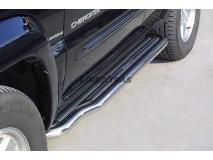 Side Steps Jeep Cherokee 01-07 Stainless Steel W/ Platform