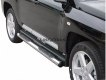 Side Steps Jeep Compass 07-10 Stainless Steel Tube 76MM