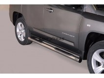 Side Steps Jeep Compass 11-17 Stainless Steel Tube 76MM