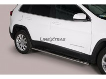 Side Steps Jeep Cherokee 2014+ Stainless Steel GPO