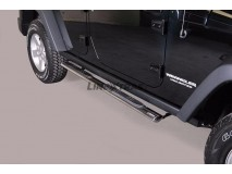 Side Steps Jeep Wrangler 2011+ Stainless Steel GPO