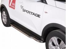 Side Steps KIA Sportage 10-15 Stainless Steel W/ Platform
