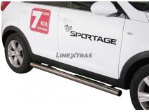 Side Steps KIA Sportage 10-15 Stainless Steel Tube 76MM
