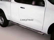 ESTRIBOS INOX 2P C/PLACA ALUM. MAZDA BT-50 2012