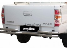 Double Bended Rear Protection Mazda BT-50 09-12 DC Steel 63MM