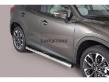 Side Steps Mazda CX-5 15-16 Stainless Steel Tube 76MM