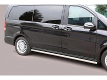 Side Protections Mercedes-Benz V-Class 2014+ Stainless Steel Tube 63MM