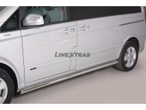 Side Protections Mercedes-Benz Viano SWB 2010+ Stainless Steel Tube 63MM