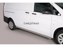 Proteções Laterais-Benz Vito SWB 2010+ Inox Tubo 63MM