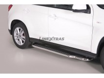 Side Steps Mitsubishi ASX 2010+ Stainless Steel W/ Platform