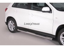 Side Steps Mitsubishi ASX 2010+ Stainless Steel Tube 76MM