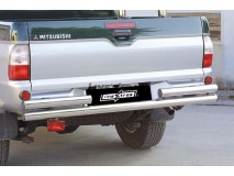 Double Rear Protection Mitsubishi L200 93-96 DC Stainless Steel 63MM