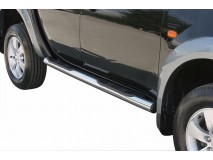 Side Steps Mitsubishi L200 06-09 Double Cab Stainless Steel Tube 76MM